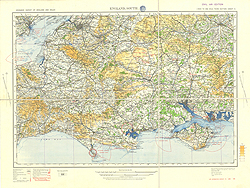 Ordnance Survey of England and Wales, Civil Air edition (Sheet 2), England, South